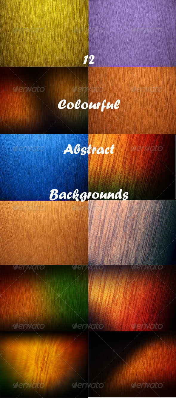 GraphicRiver 12 Colourful Abstract Backgrounds 8075793