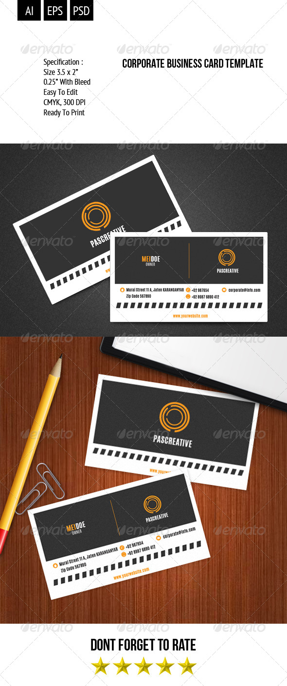 Corporate Business Card Template Vol. 1 - Corporate Business Cards