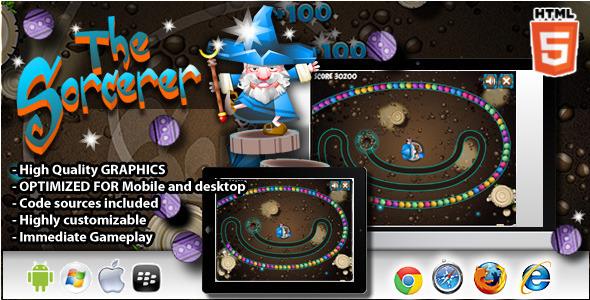 CodeCanyon The Sorcerer Zuma Clone HTML5 Game 8075945