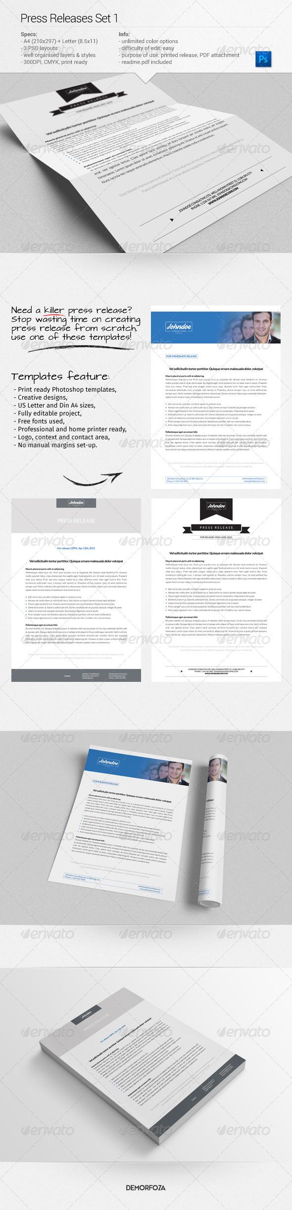 GraphicRiver Press Releases Set 1 8075946