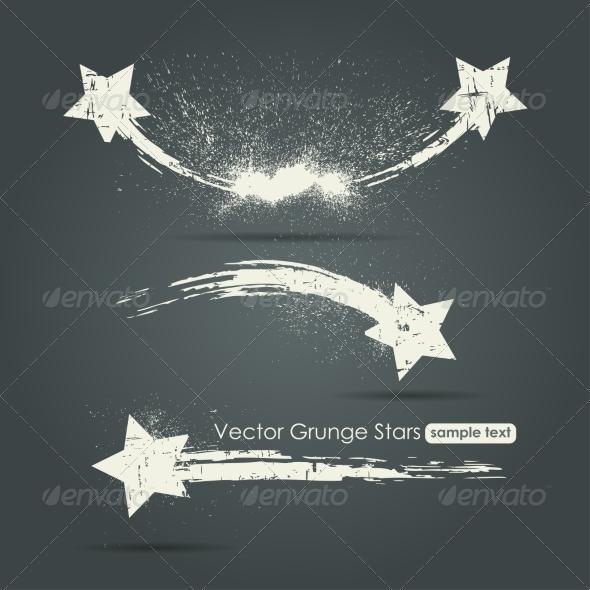 GraphicRiver Grunge Set of Shooting Stars 8076033