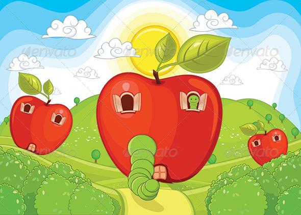 GraphicRiver Apple Home Vector Illustration 8076384