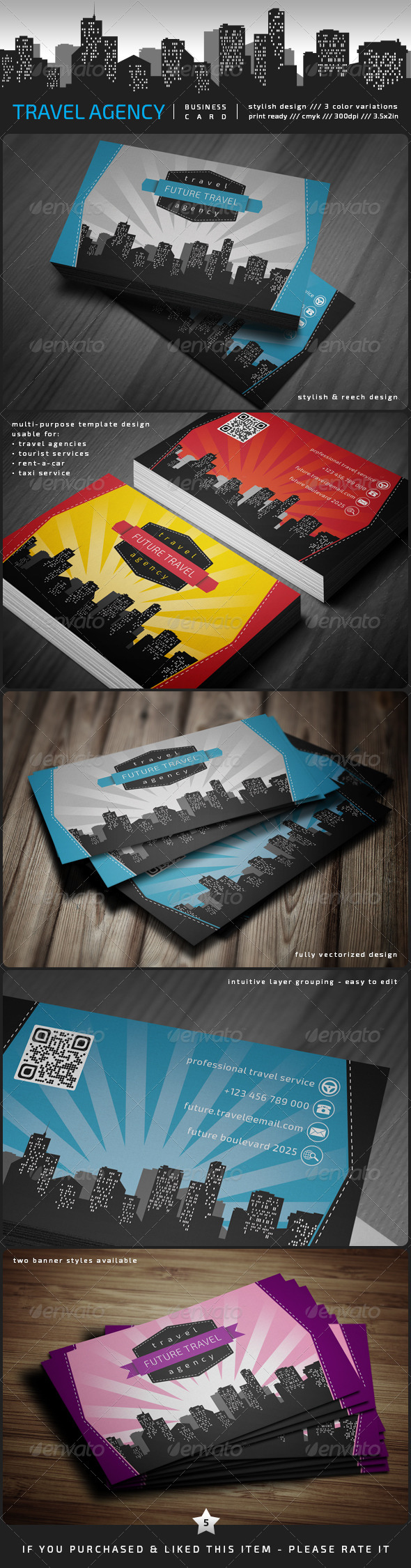 Travel Agency Business Card - Corporate Business Cards