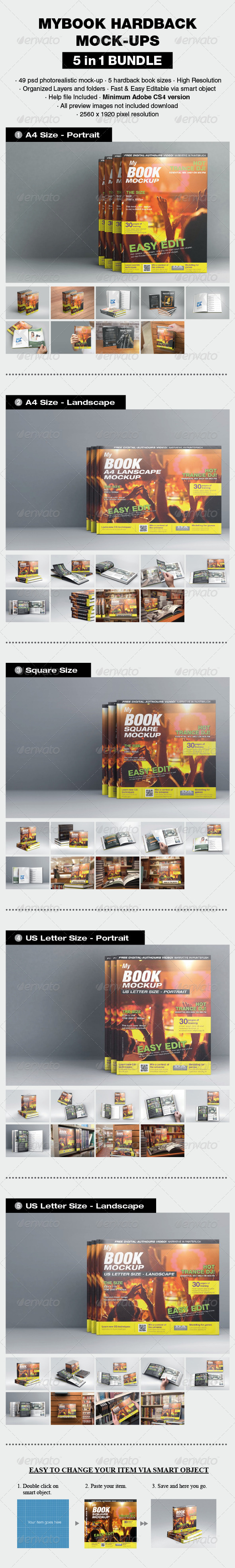 GraphicRiver mybook Hardback Bundle 8076500