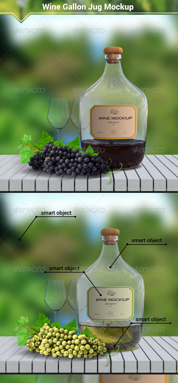 GraphicRiver Wine Gallon Jug Mockup 8076501