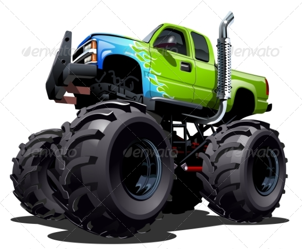 GraphicRiver Cartoon Monster Truck 8076505