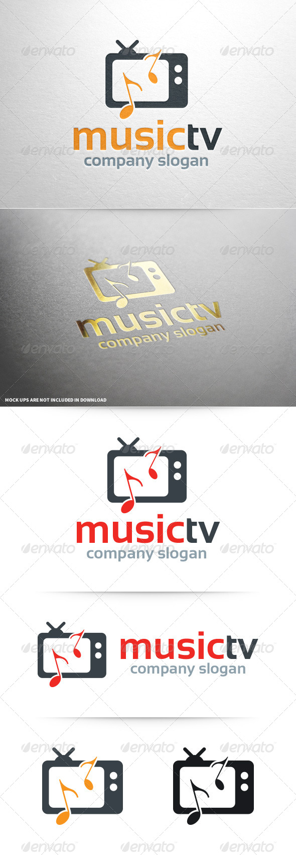GraphicRiver Music TV Logo Template 8076552