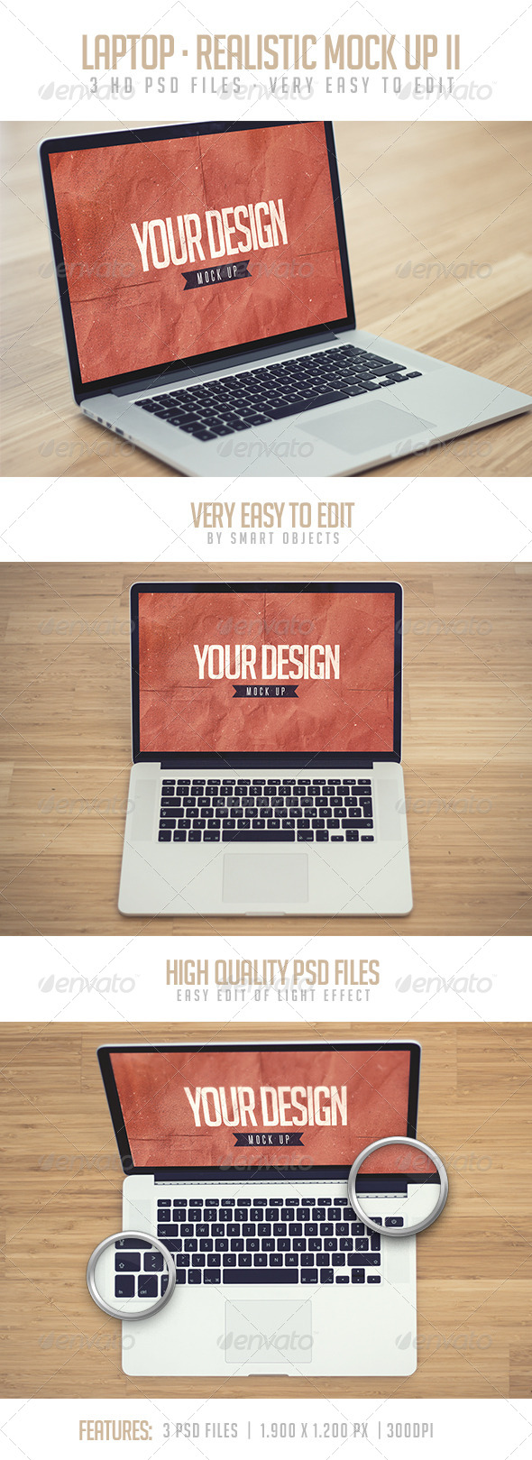 GraphicRiver Laptop Realistic Mock Up II 8076590