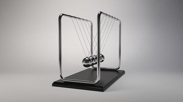 Newtons cradle Pendulum - 3DOcean Item for Sale