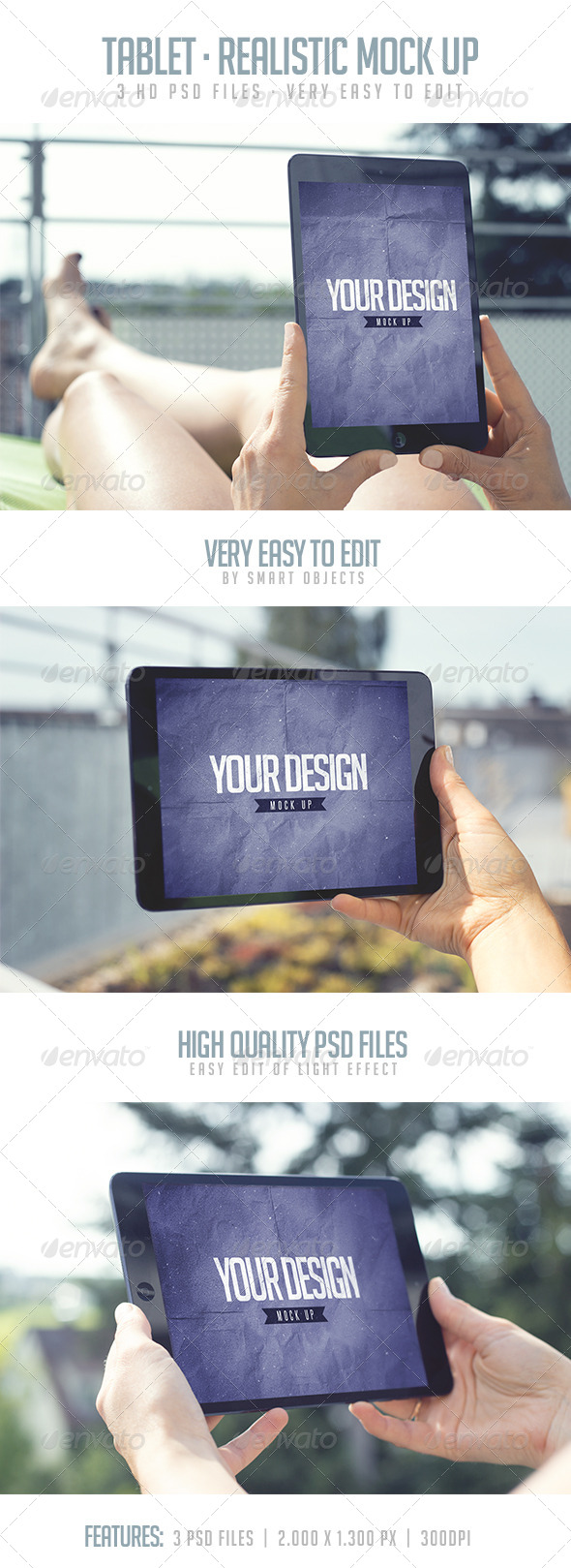 GraphicRiver Tablet Realistic Mock Up 8076909