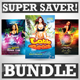 Latin Beach Nights Party Super Bundle - GraphicRiver Item for Sale