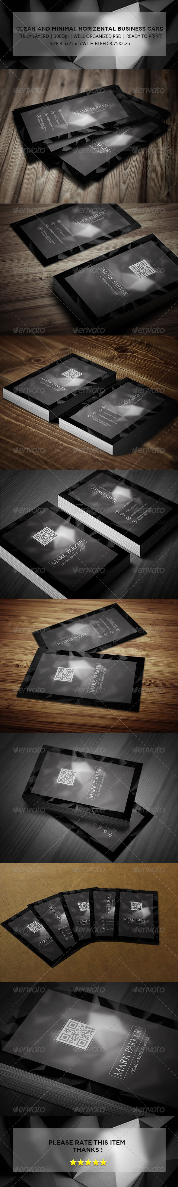 GraphicRiver Clean and Minimal Vertical Business Card 8066963