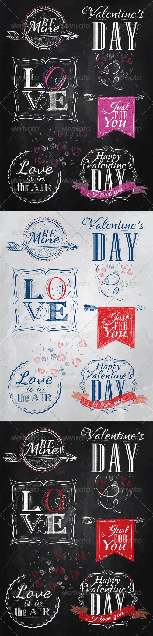 GraphicRiver Valentine s Day and Love Lettering Collection 8069964