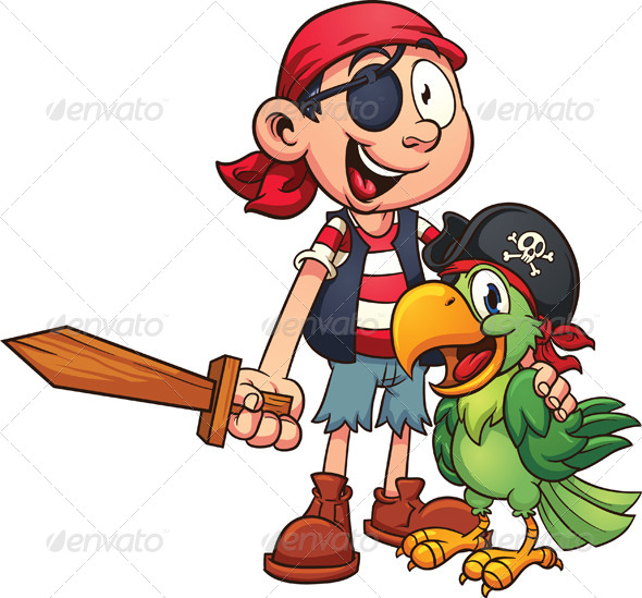 GraphicRiver Pirate and Parrot 8077233