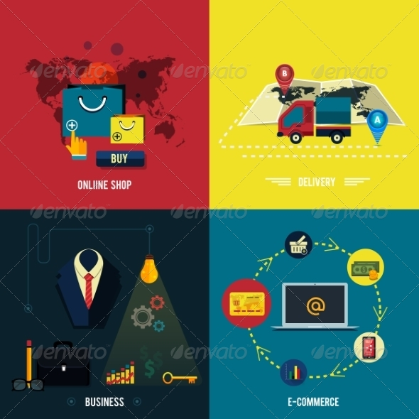 GraphicRiver Icons for E-commerce Delivery Online Shopoing 8077461