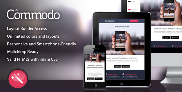 Commodo Flat & Clean Responsive Email Template
