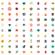 Colored Classic Icons - GraphicRiver Item for Sale