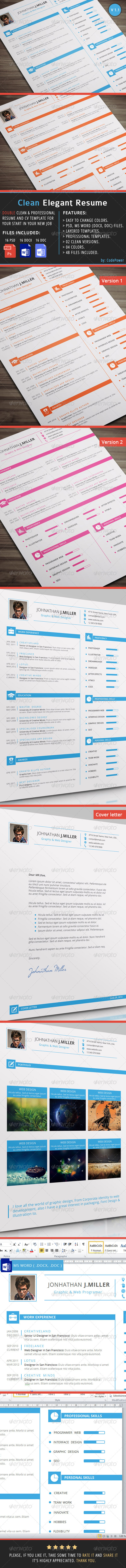 GraphicRiver Clean Elegant Resume 8067739
