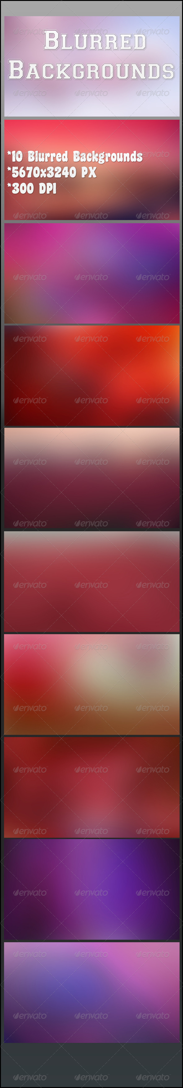 GraphicRiver Blurred Backgrounds 8077547