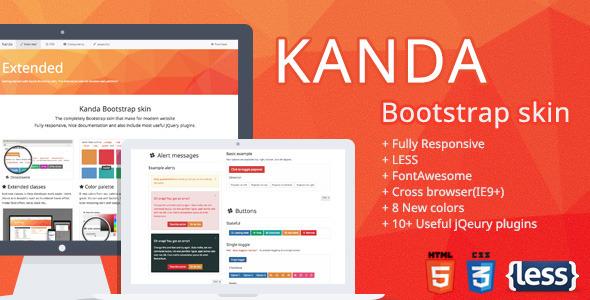 CodeCanyon Kanda Bootstrap skin 8043799
