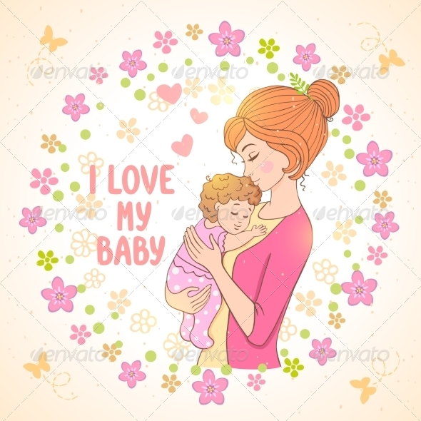 GraphicRiver Mom and Baby 8077726