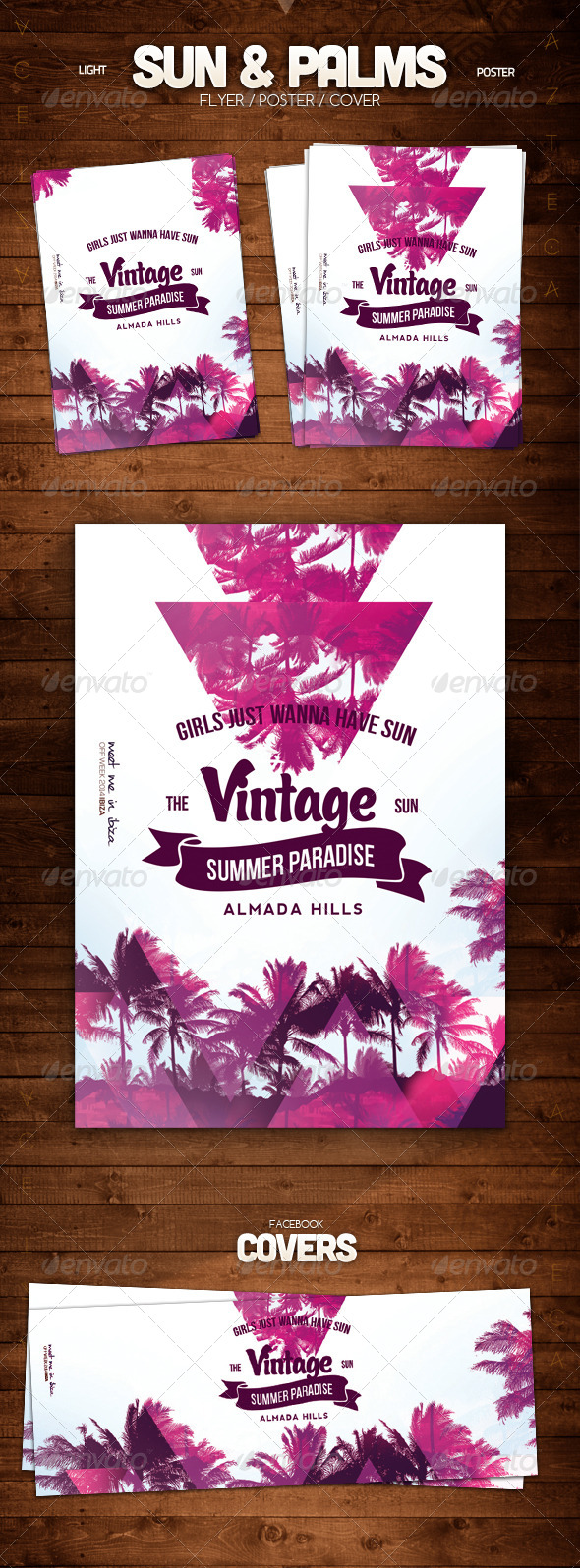 Sun & Palms Poster - Clubs & Parties Events