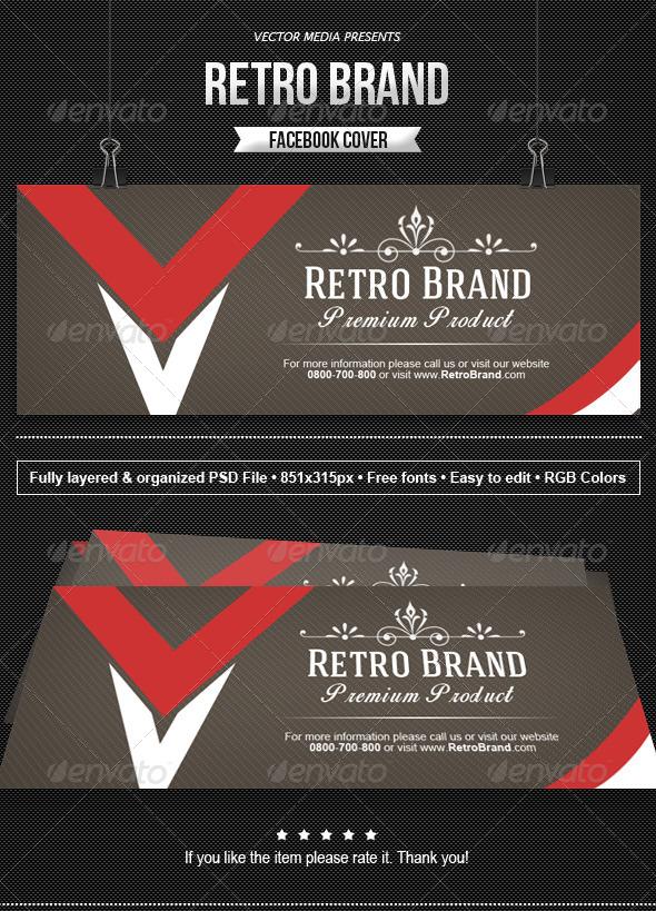 GraphicRiver Retro Brand Facebook Cover 8078165