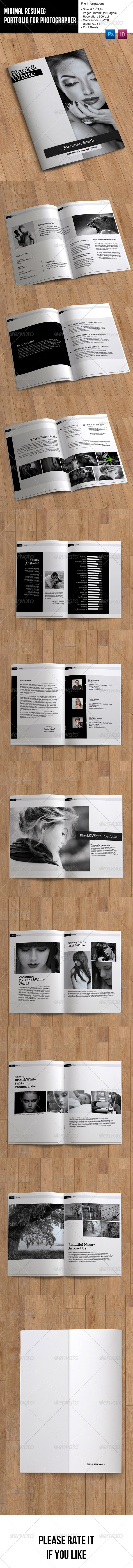 GraphicRiver Minimal Resume and Portfolio Booklet 8078207
