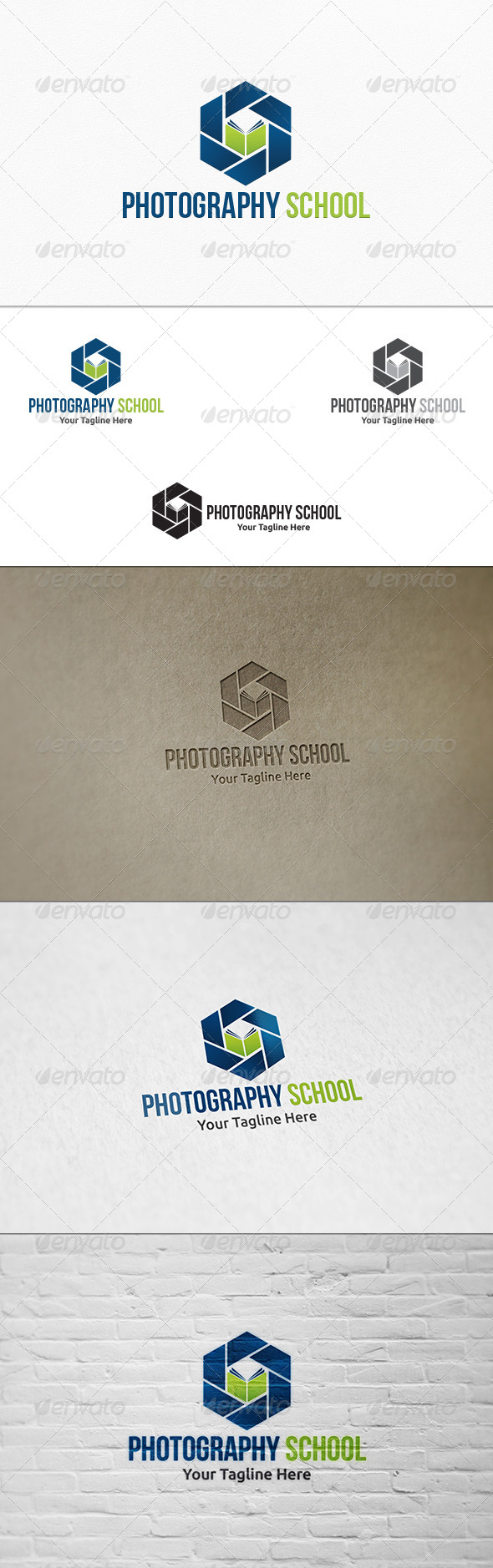GraphicRiver Photography School Logo Template 8078208