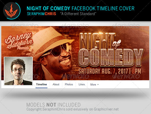 GraphicRiver Night of Comedy Facebook Timeline Cover Template 8078217