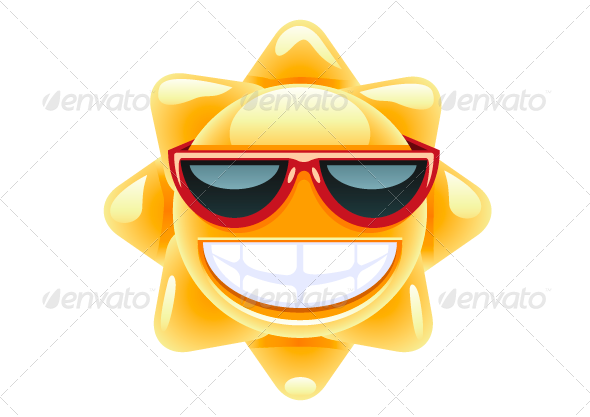 GraphicRiver Sun with Red Glasses 8078266