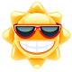 Sun with Red Glasses - GraphicRiver Item for Sale