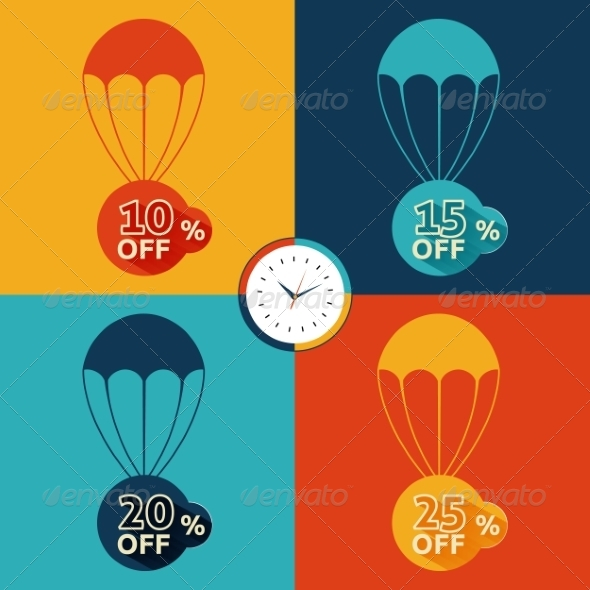 GraphicRiver Discount Parachute Set 8078295