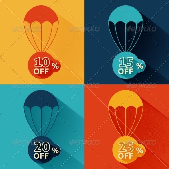 GraphicRiver Discount Parachute Set 8078303