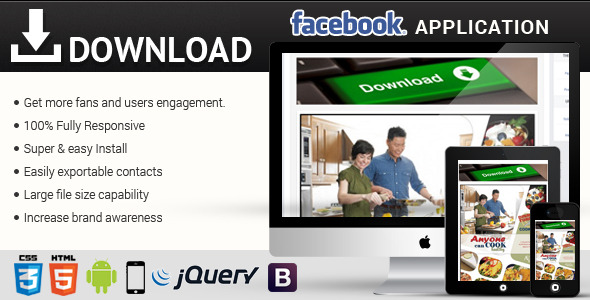 CodeCanyon Facebook Download Responsive Application 8078338