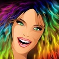 Happy Girl Rainbow Fashion Hair - PhotoDune Item for Sale