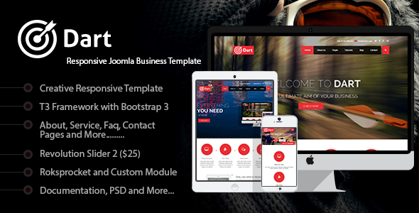 ThemeForest Dart Responsive Joomla Business Template 8078459