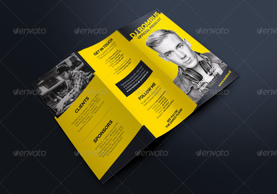 tools4dj Promotional print templates for DJs and producers – Press Kit Template