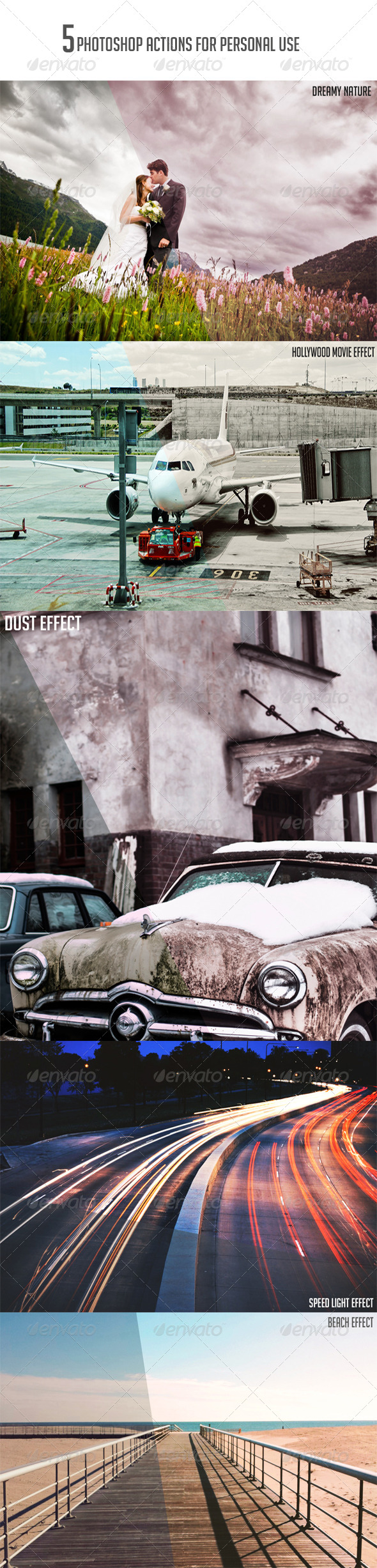 GraphicRiver 5 photoshop actions 8078575