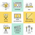 Films and post production flat icons - PhotoDune Item for Sale