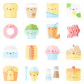 Cute stylish food flat icons - PhotoDune Item for Sale