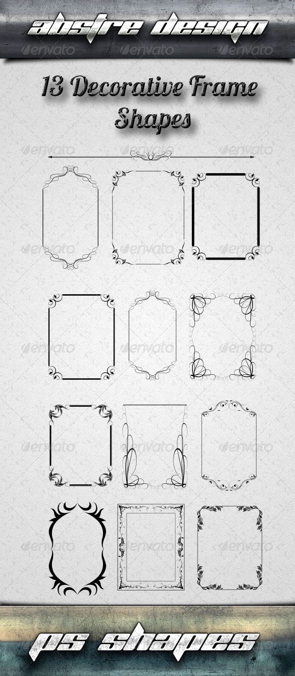 GraphicRiver 13 Decorative Frames 8065029