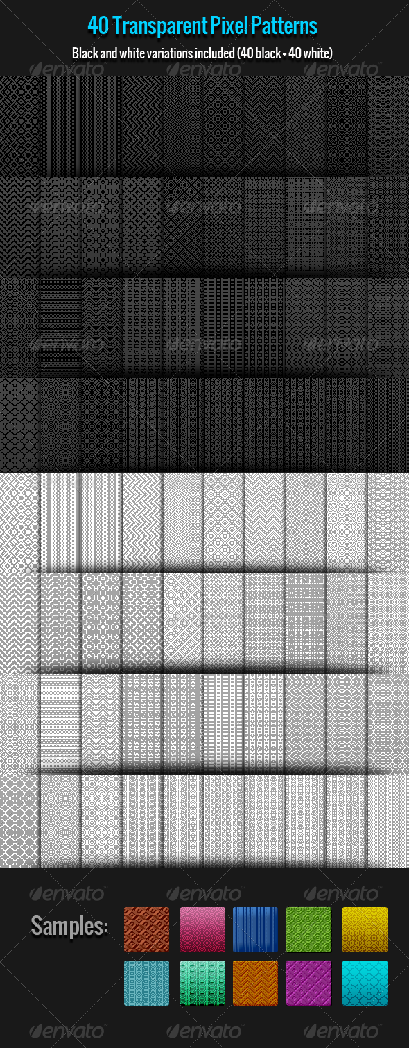 GraphicRiver 40 Pixel Patterns 8078794