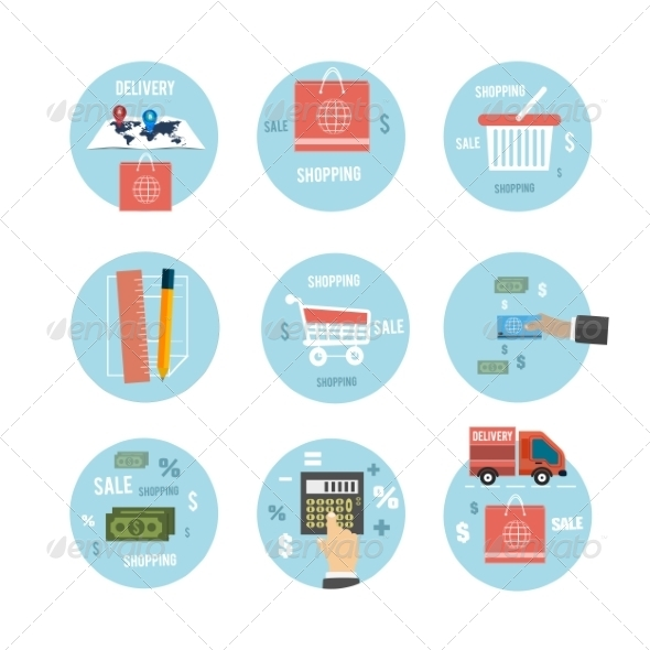 GraphicRiver Business Office and Marketing Items Icons 8078797