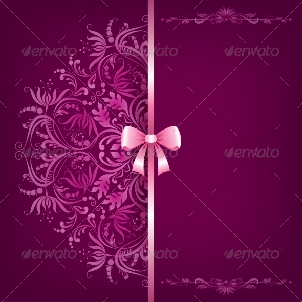 GraphicRiver Elegant Background and Ornament with Bow 8078883