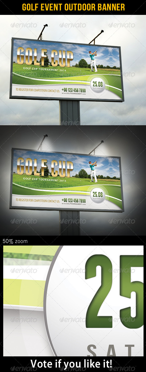 Golf Event Outdoor Banner 01