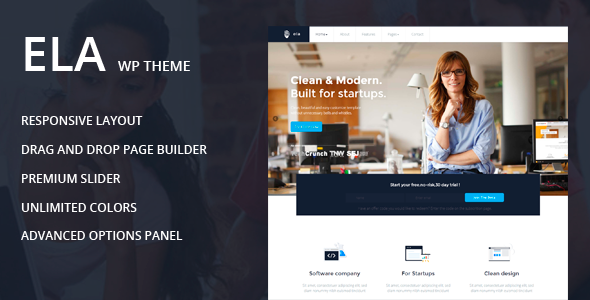 Ela - Business / Multipurpose Theme - Corporate WordPress