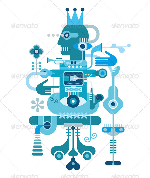 GraphicRiver Blue Abstract Composition 8079027