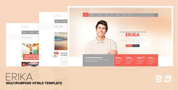 Erika - Responsive Multipurpose HTML5 Template