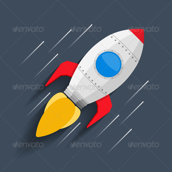 GraphicRiver Rocket in Space 8079197